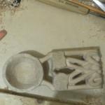 Вырезаем кельтскую ложку. Продолжаем вырезать отверстия и орнамент(вид сверху).