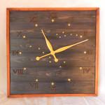 """Большие часы из дерева """"Созвездия"""" (фото)"""