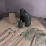 Дефект в эбене. Эскиз скульптуры. (фото)